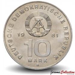 ALLEMAGNE DE L'EST / DDR / RDA - PIECE de 10 Marks - Armée nationale - 1981