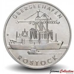 ALLEMAGNE DE L'EST / DDR / RDA - PIECE de 5 Marks - Port de Rostock - 1988