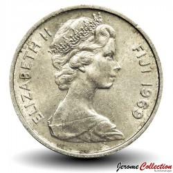 FIDJI - PIECE de 20 Cents - Dent de cachalot - 1969