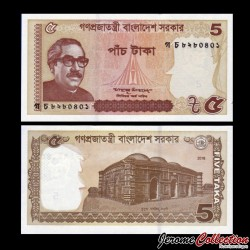 BANGLADESH - Billet de 5 Taka - 2016