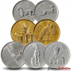 HAUT-KARABAGH - SET / LOT de 7 PIECES de 50 LUMA 1 5 DRAMS - 2004
