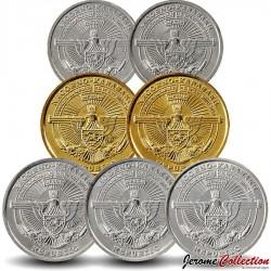 HAUT-KARABAGH - SET / LOT de 7 PIECES de 50 LUMA 1 5 DRAMS - 2004