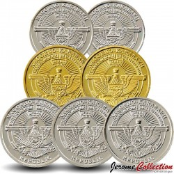 HAUT-KARABAGH - SET / LOT de 7 PIECES de 50 LUMA 1 5 DRAMS - 2013