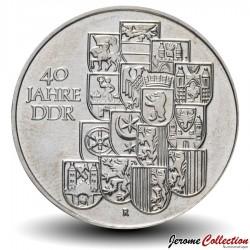 ALLEMAGNE DE L'EST / DDR / RDA - PIECE de 10 Marks - 40 ans du Gouvernement - 1989