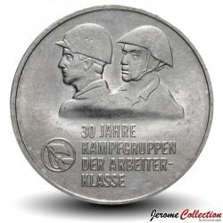ALLEMAGNE DE L'EST / DDR / RDA - PIECE de 10 Marks - 30eme anniversaire de Kampfgruppen - 1983