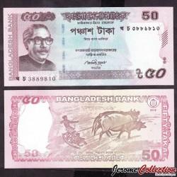 BANGLADESH - Billet de 50 Taka - 2015