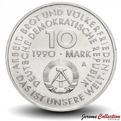 ALLEMAGNE DE L'EST / DDR / RDA - PIECE de 10 Marks - Fête international du travail - 1990