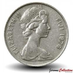 FIDJI - PIECE de 20 Cents - Dent de cachalot - 1976