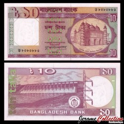 BANGLADESH - Billet de 10 Taka - 1996