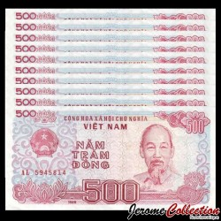 VIETNAM - Lot de 10 Billets de 500 Dong - 1988 P101a