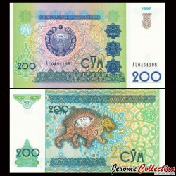 OUZBEKISTAN - Lot de 10 Billets de 200 Som - 1997