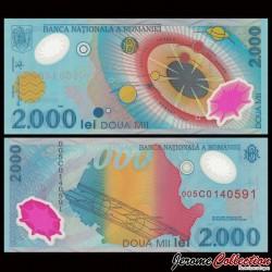 ROUMANIE - Billet de 2000 Lei - Système solaire - Polymer - 1999 P111a