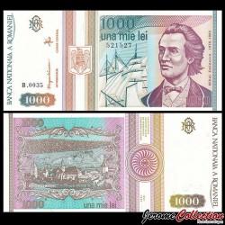 ROUMANIE - Billet de 1000 Lei - Mihai Eminescu - 1993 P102a