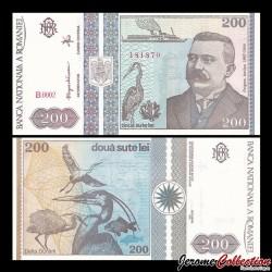 ROUMANIE - Billet de 200 Lei - Grigore Antipa - 1992 P100a