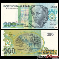 BRESIL - Billet de 200 Cruzeiros - 1990 P229a