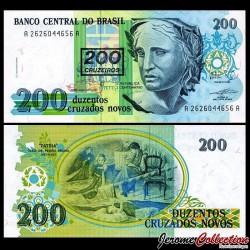 BRESIL - Billet de 200 Cruzeiros - 1990
