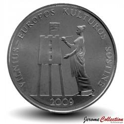 LITUANIE - PIECE de 1 Litas - Vilnius Capitale Culturelle de l'Europe - 2009 Km#162