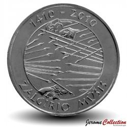 LITUANIE - PIECE de 1 Litas - 600 Ans de la bataille de Grunwald - 2010 Km#172