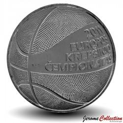 LITUANIE - PIECE de 1 Litas - Championnat d'Europe de basket-ball - 2011 Km#177