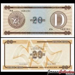 CUBA - Billet de 20 Pesos - 1985 Pfx36