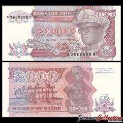 ZAIRE - Billet de 2000 Zaires - 1.10.1991