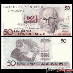 BRESIL - Billet de 50 Cruzeiros - Carlos Drummond de Andrade - 1990 P223a
