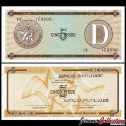 CUBA - Billet de 5 Pesos - 1985 Pfx34