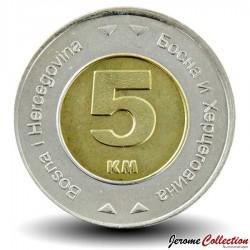 BOSNIE - PIECE de 5 Mark convertible - Colombe de la paix - Bimétal - 2005
