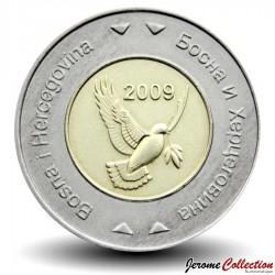BOSNIE - PIECE de 5 Mark convertible - Colombe de la paix - Bimétal - 2009 Km#120