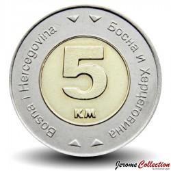 BOSNIE - PIECE de 5 Mark convertible - Colombe de la paix - Bimétal - 2009